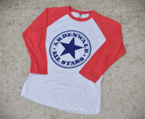 baseball t-shirt - red - adult - WEB