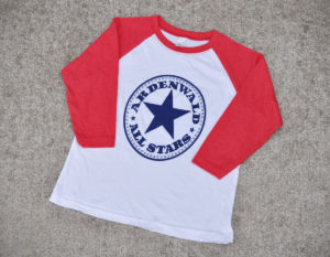 baseball t-shirt - red - youth - WEB
