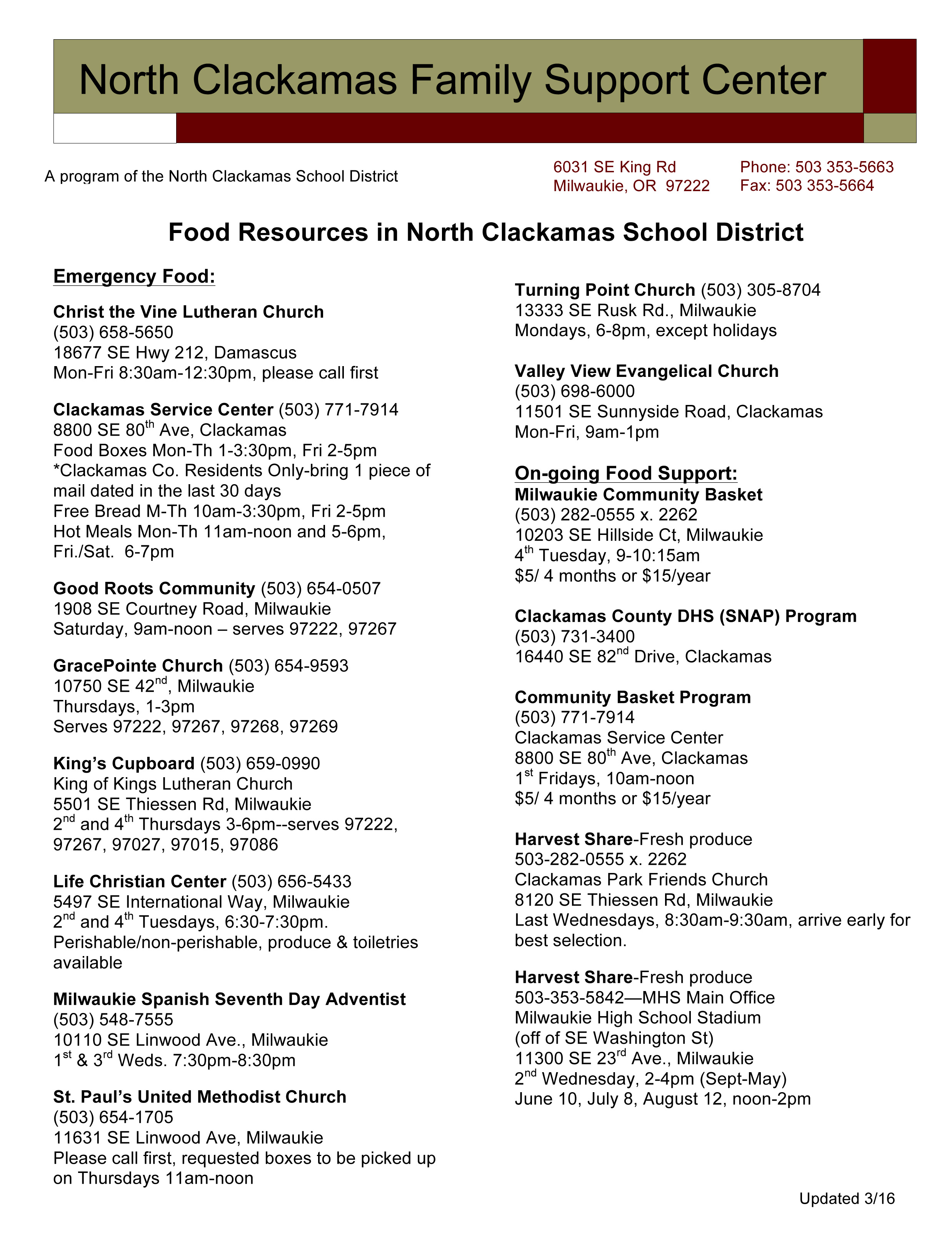 Microsoft Word - Food Resources.doc
